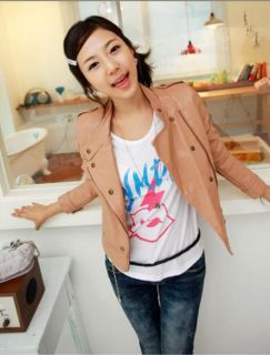T803 Lady Faux Leather Short Jacket