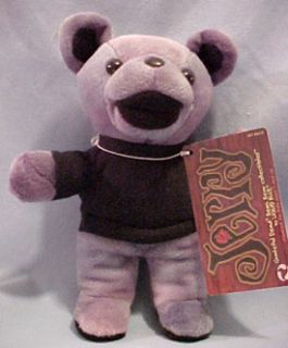 Grateful Dead Jerry Bean Bear in Black Shirt Cute Teddy