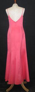 Jessica McClintock Coral Satin Mermaid Dress Size 6