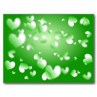 Green Heart Wallpaper Post Card
