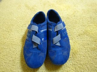genuine/brand new] Coach JENNEY Blue Signature Tennis Sneakers Shoes
