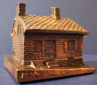 RARE Vintage Souvenir Metal Building Jennie Wade House Gettysburg PA