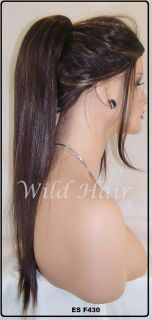 Pony Tail Extensions 18 Dark Brown Sassy Yaki Hair