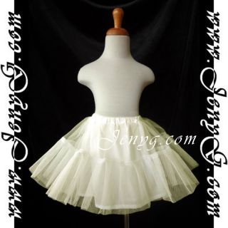 U01 Petticoats Underskirts for Flower Girls Communions Pageant Ivory 0