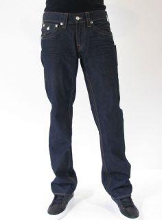 True Religion Jeans Ricky Inglorious Denim Designer Dark Blue Men New