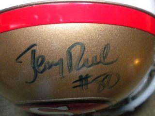 Jerry Rice Autographed Hand Signed 49ers Mini Helmet w COA HOF