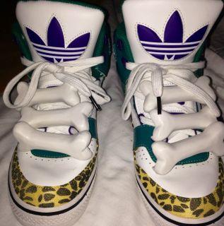 Adidas Jeremy Scott Bones Camo Cool Grey 9S Jordan 11 Bred