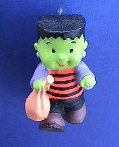 Halloween PIN of Green FRANKENSTEIN BOY Vintage Holiday BROOCH Jewelry