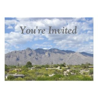 Mountain Range Invitations