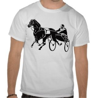 harness cart horse racing sulkies t shirt
