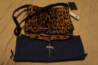 Brand New Jerome Dreyfuss Alber Bag in Leopard Calf Hair and Lambskin