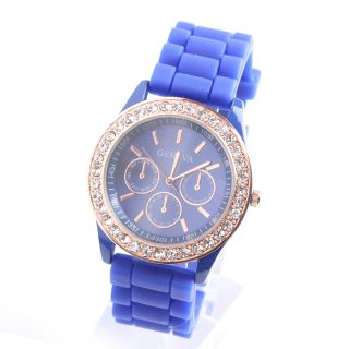 New 10 Color Silicone Jelly Gel Quartz Wrist Watch Girls Women with