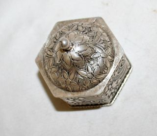 Antique Sterling Silver 800 Box Germany Circa 1920