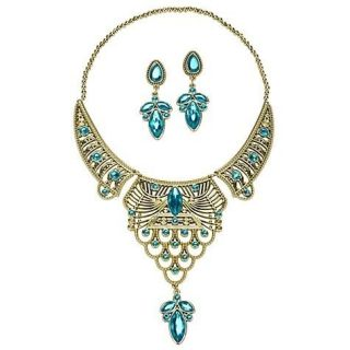 Arabian Princess Jasmine Jewelry Set Necklace Earrings