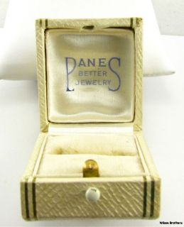 Jewelry Box Ring Earring Case Vintage Estate Jewelry