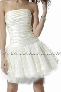Jessica McClintock 33300 Satin Lace Dress 9