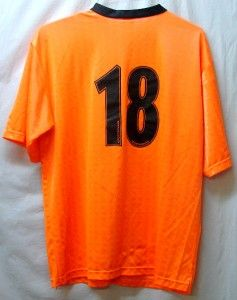 Soccer Jersey Bright Orange Black Adult XL Used