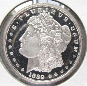 1889 Carson City Morgan Dollar Coin Numbered Copy CR0149 Silver Proof