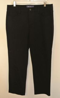 Your Daughters Jeans NYDJ Black Tummy Tuck Pants 11247 US 12