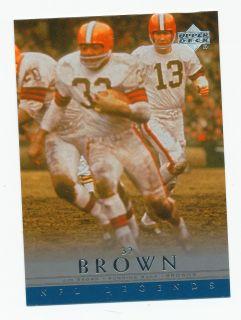 Jim Brown Cleveland Browns 2000 U D NFL Legends