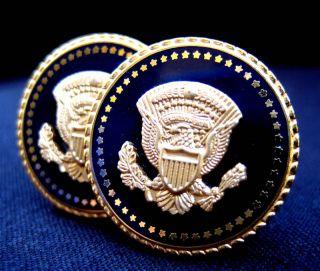 Jimmy Carter Presidential Cufflinks Blue Cobalt