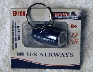 Collectible Jet Engine Flashlight Keychain   US Airways