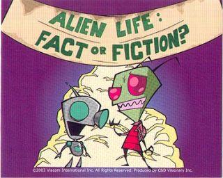 Invader Zim Gir Fact Fiction Sticker Vasquez