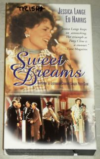Sweet Dreams VHS HBO 1985 Jessica Lange Ed Harris Wedgeworth Patsy