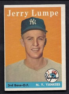 Jerry Lumpe New York Yankees 1958 Topps Card 193