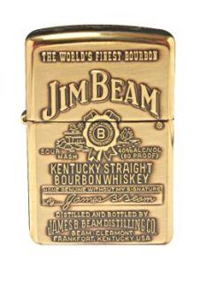 Zippo Classic 254BJB 929 Jim Beam Label High Polish Brass Lighter New