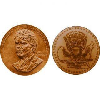 Jimmy Carter Bronze Medal US Mint 1 5 16 Velvet Case