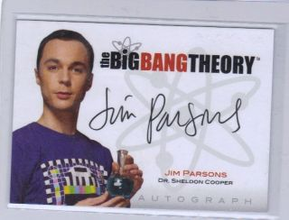 Jim Parsons Dr Sheldon Cooper Autograph Auto The Big Bang Theory