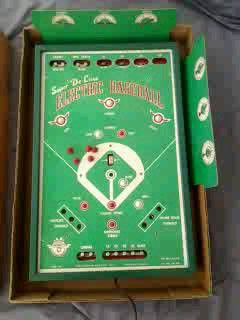 JIM PRENTICE ANTIQUE RARE SUPER DE LUXE ELECTRONIC BASEBALL ARCADE