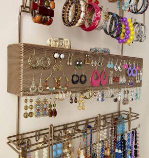 Longstem Bronze Door Jewelry Organizer Earring Storage Patented Rated
