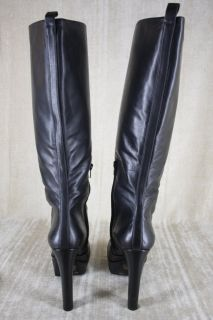 Jessica Simpson Ambery Boots Tall Black Leather Size 9 5 $197 Platform