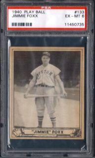 1940 Play Ball 133 Jimmie Foxx Red Sox EX MT PSA 6