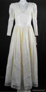 Jessica McClintock Cream Prairie Victorian Lace Wedding Dress Misses