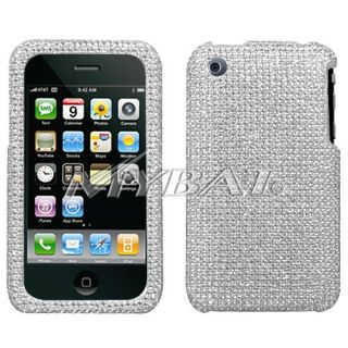 Bling Rhinestone Jewel Case Cover Fits iPhone 3GS 3G S