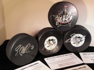 SIDNEY CROSBY, MALKIN, FLY, NEAL Auto/AU w/COA Puck Lot! Pittsburgh