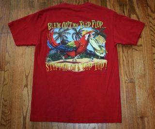 New Jimmy Buffett Margaritaville Las Vegas Red T Shirt M Blew Out My