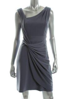Jessica Simpson New Blue Asymmetric Neck Sleeveless Cocktail Evening