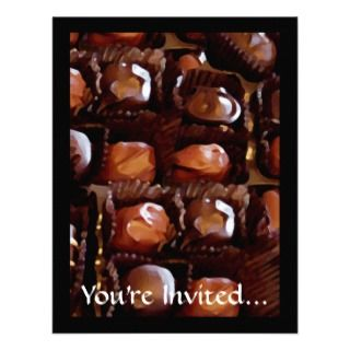 Box of Chocolates, Tempting Chocolate Candy Invite