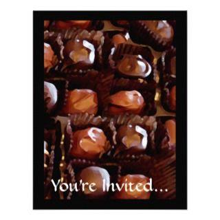 Box of Chocolates, Tempting Chocolate Candy Invite