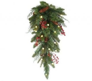 Bethlehem Lights Solutions Battery Operated 24 Teardrop Swag with
