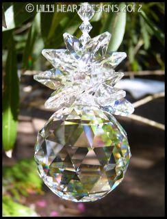 Swarovski Crystal 50mm Ball Huge Pineapple Sun Catcher Lilli Heart