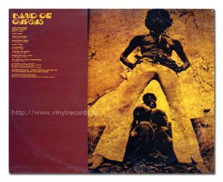Album Back Cover Photo JIMI HENDRIX   Band of Gypsys France Barclay