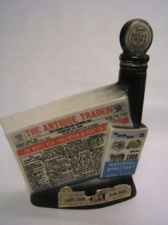 Jim Beam Bottle Antique Trader 1968 Kewanee Illinois