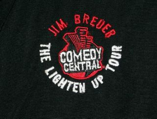 Jim Breuer Comedy Mens Black Lined Sports Jacket L New