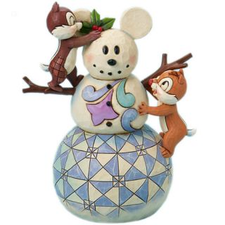 Jim Shore Disney Snowman with Chip Dale 4016569