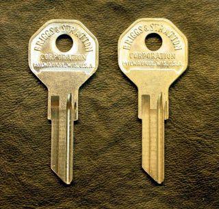 Two (2) NOS Harley Davidson Briggs & Stratton Key Blanks OEM